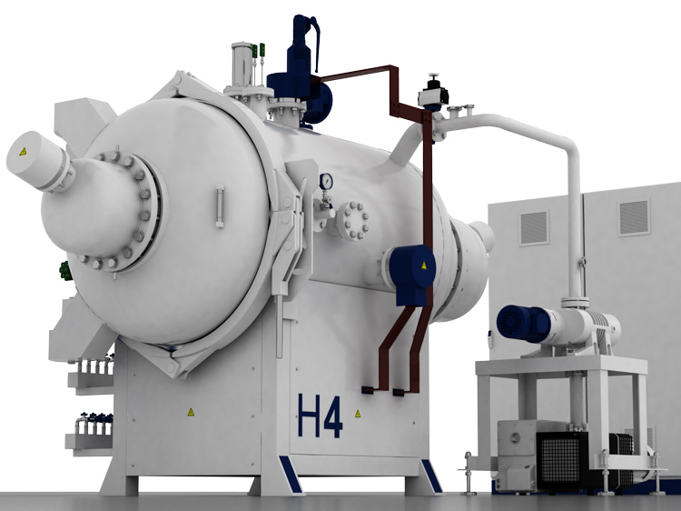 Horizontal vacuum furnaces Hinged door