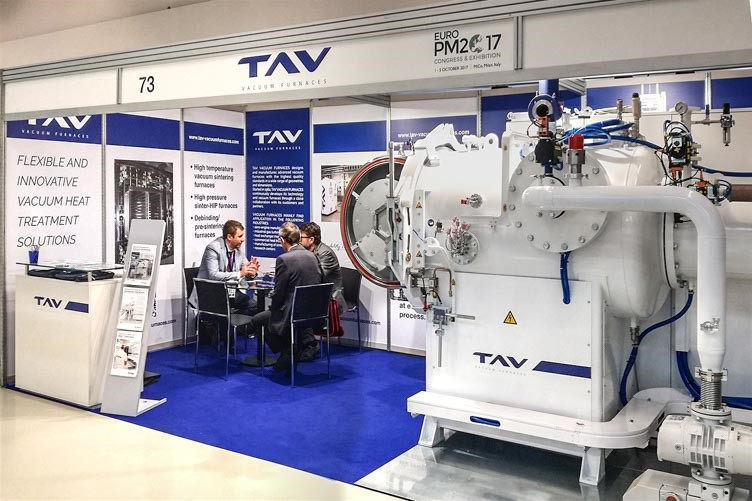 TAV VACUUM FURNACES powder metallurgy at Euro PM2017
