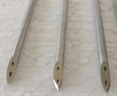 Final bi-lumen tubes.