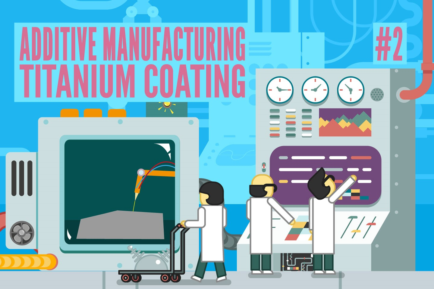 Learn all about coating Titanium64 realized via additive manufacturing #2