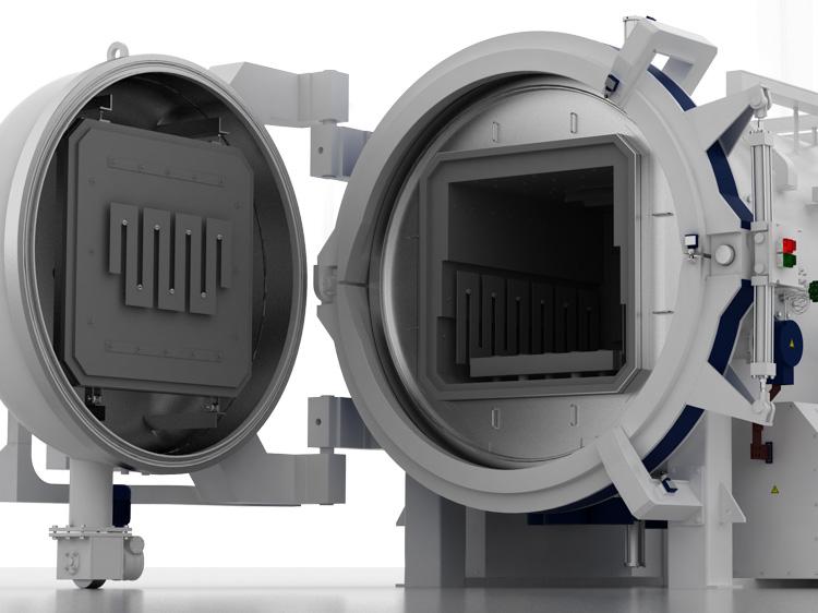Horizontal vacuum furnaces Hinged door